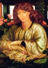 Kate Bush in A Vision Of Fiammetta (by Dante Gabriel Rossetti) (189 kbytes) - Click to enlarge