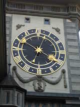 Bern, Clock (86 kbytes) - Click to enlarge