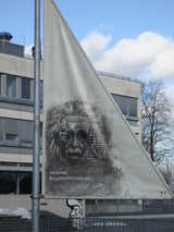 Bern, Einstein Flag (70 kbytes) - Click to enlarge