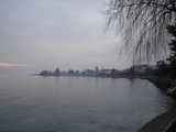 Lausanne, Looking Out Across the Lake in Winter (37 kbytes) - Click to enlarge