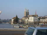 Zurich, Central from a Bridge (43 kbytes) - Click to enlarge