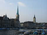 Zurich, Across the River (37 kbytes) - Click to enlarge